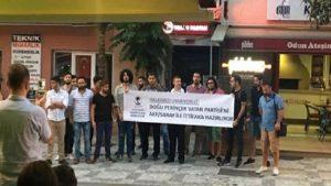 CHP'li gençlerden karşı eylem: Sarayın bekçisi Vatan Partisi
