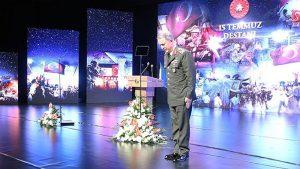 Genelkurmay Başkanı Hulusi Akar, bu sloganlarla kürsüye çıktı