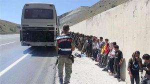 Arızalanan otobüse bakmaya giden Jandarma şok oldu!
