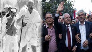 """""""Kılıçdaroğlu ve Gandhi'nin yürüyüşü arasındaki farklar"""""""
