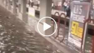 İstanbul Metrosu yeraltı akarsuyuna dönüştü, Metrobüsler havuza döndü!