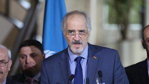 Suriye Hükümeti Temsilcisi Caferi, Cenevre'de Mistura ile Görüştü
