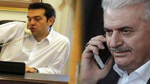 Başbakan Yıldırım, Çipras'la telefonda görüştü