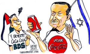 Latuff'tan Erdoğan karikatürü: Rabia, Coca – Cola ve İsrail