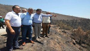 CHP'li vekiller İzmir'de yanan orman alanlarını inceledi
