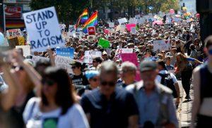 San Francisco'da binler faşizme karşı yürüdü