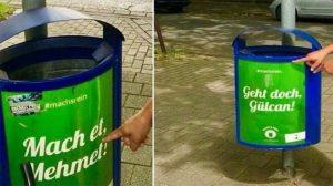 Almanya'da skandal uygulama! Belediye Türk isimlerini çöp kutularına yazdı!