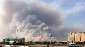 Azerbaycan'da askeri birlikte patlama meydana geldi