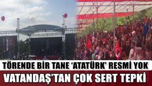 Dumlupınar'da 30 Ağustos törenlerinde bir tane Atatürk posteri yok!
