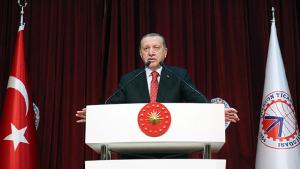 Erdoğan, bankalara faizlerin indirilmesi konusundaki çağrısını yineledi