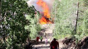 Erzurum'da orman yangını 2 gündür devam ediyor!