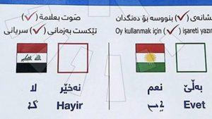 Kuzey Irak'ta referandum için pusulalar hazırlandı: 3 dilde referandum, Türkçe de var!
