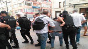 Kadıköy'de destek eylemine müdahale: 33 gözaltı