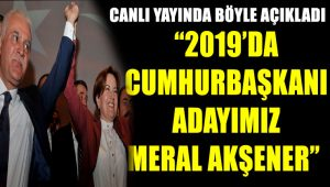 Koray Aydın canlı yayında açıkladı: 2019'da adayımız Meral Akşener
