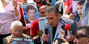 Faili meçhul yakınlarından İkbal Eren ve Mikail Kırbayır da Adalet Kurultay'ında