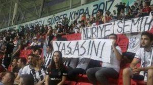 """""""Nuriye ve Semih yaşasın"""" pankartı açan Beşiktaşlı taraftarlar serbest bırakıldı"""
