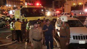 Mekke'de Türk hacı adaylarının kaldığı otelde yangın çıktı