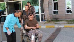 """Erzurum'da özel harekat polisi """"yanlışlıkla"""" vuruldu; çatışmaya geri döndü"""