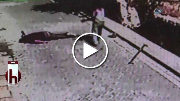 Mobilya işçisinin tüyler ürperten düşüşü anbean kameralarda