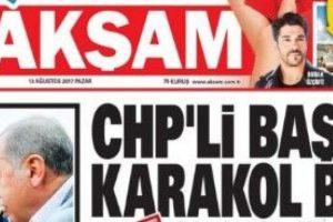Akşam'ın 'CHP'li Başkan Karakol Bastı' haberine sert tepki