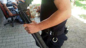 Taraftar otobüsünden pompalı tüfek çıktı!