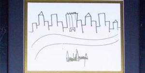 Trump'ın çizdiği bu çizim bakın ne kadara satıldı?