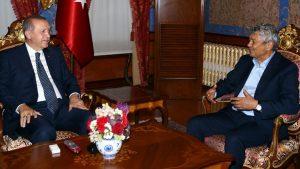 Demirören ve Lucescu, Erdoğan'ı ziyaret etti