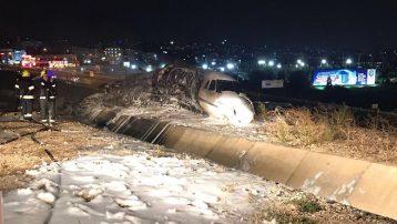 Atatürk Havalimanında uçak kazası! Yere çakılan özel jet alevler içinde kaldı!