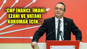 Tezcan'dan Erdoğan'a yanıt: CHP, inancın özgürce yaşanabildiği bir Türkiye kurdu