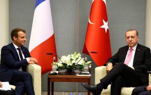 BM'de ikili görüşmeler: Erdoğan Macron ile görüştü