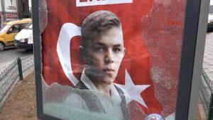 Şehit Eren Bülbül'ün yer aldığı reklam panosunun nasıl kırıldığı ortaya çıktı