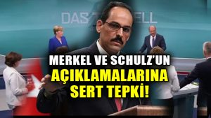 Cumhurbaşkanlığı Sözcüsü İbrahim Kalın'dan Almanya'ya sert sözler!