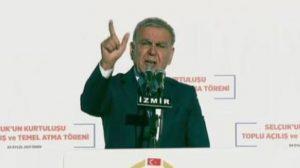 İzmir Büyükşehir Belediye Başkanı Aziz Kocaoğlu Kürsüyü terk etti, Başbakan Yıldırım dalga geçti!