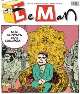 Menzil tarikatı mizah dergisi Leman'ın kapağında