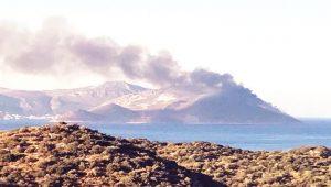 Meis Adası'nda yangın