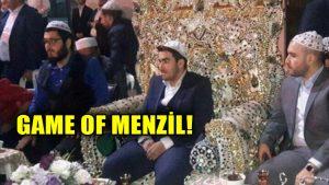Menzil şeyhinin torunu düğünde tahta oturdu, sosyal medyada alay konusu oldu