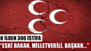 Afyonkarahisar'da MHP'den 300 kişi istifa etti