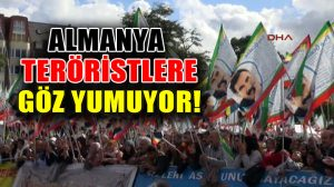 Almanya, yasağa rağmen festivalde PKK elebaşının posterinin açılmasına izin verdi