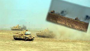 Habur'da tanklara manevra ve taarruz eğitimi