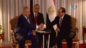 Mısır Devlet Başkanı Sisi İsrail Başbakanı Netanyahu ile görüştü