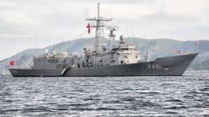 Yunan gemisinin imdat çağrısına Türk fırkateyni yetişti