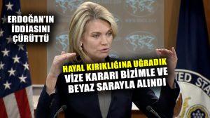 ABD Dışişleri Sözcüsünden, Türkiye açıklaması: Hayal kırıklığına uğradık, karar Beyaz Sarayla alındı