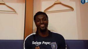Başakşehirli Adebayor'dan Beşiktaşlı Pepe'ye esprili mesaj: Tekme atmak yok