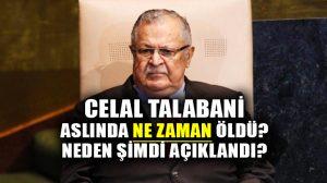 KYB lideri Celal Talabani referandumdan önce hayatını kaybetti, yeni açıklandı…