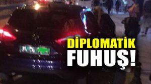 İstanbul'da diplomatik plakalı araçla fuhuş pazarlığı