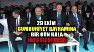 """Erdoğan, Cumhuriyeti kuran tek partili dönemi """"1923"""" ile çarpıtarak eleştirdi!"""