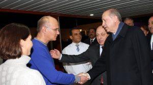 Cumhurbaşkanı Erdoğan ve Başbakan Yıldırım Deniz Baykal'ı ziyaret etti