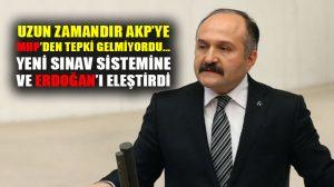 MHP'li Erhan Usta, açıklanan yeni üniversite sınav sitemine tepki gösterdi!
