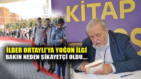 İlber Ortaylı'ya Eskişehir'de yoğun ilgi