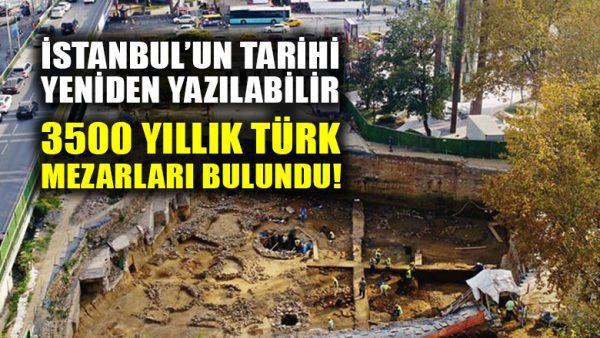 İstanbul'un tarihi yeniden yazılacak: Eski Türk kültürüne ait 3500 yıllık mezar bulundu